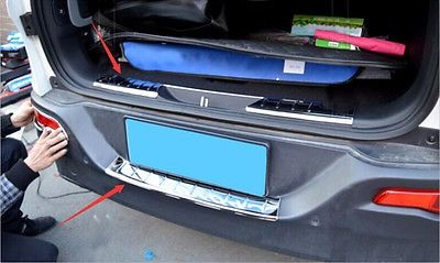 94.82$  Buy now - http://ali6mr.shopchina.info/1/go.php?t=32703208999 - Outer + Inner Rear Bumper Protector Sill trims for Jeep Cherokee 2014 2015 2016 94.82$ #buychinaproducts