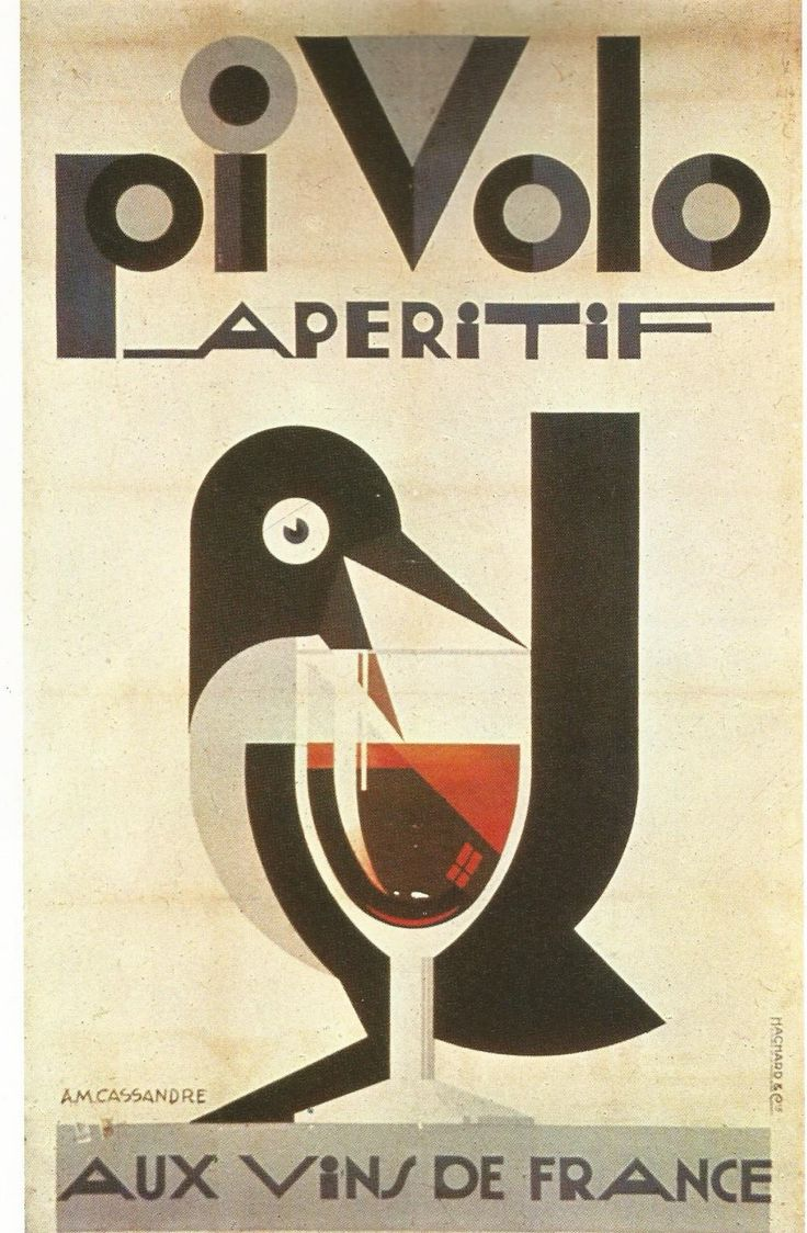 Poster design 20th century -  Pivolo By A Gassandre For Hachard Et Cie Find This Pin And More On 20th Century Poster