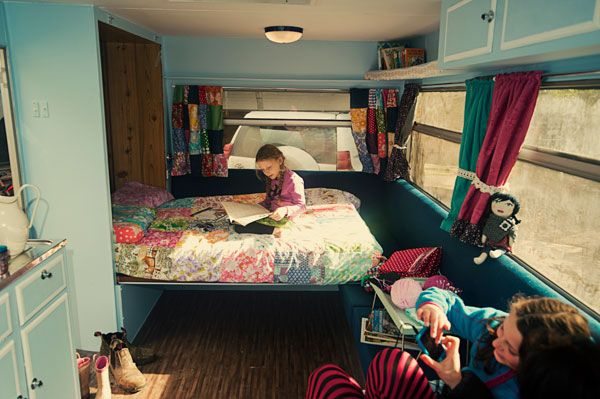 murphy bed for a glamper...  Two great ideas together.  (although I am not sure what glamping is, I love the idea of murphy beds and camping