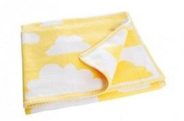 Färg & Form deken wolken - geel | ♦ Dekentjes | Gras onder je voeten