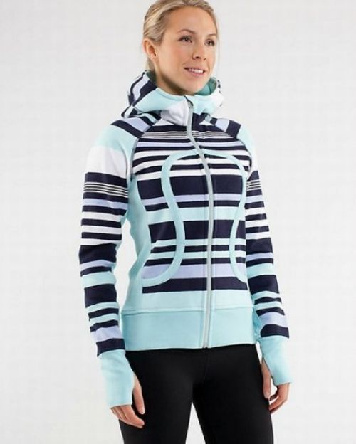 Lululemon Athletica Yoga Scuba Hoodie Blue Navy Stripe cheap sale on www.lululemonwarehouseca.com
