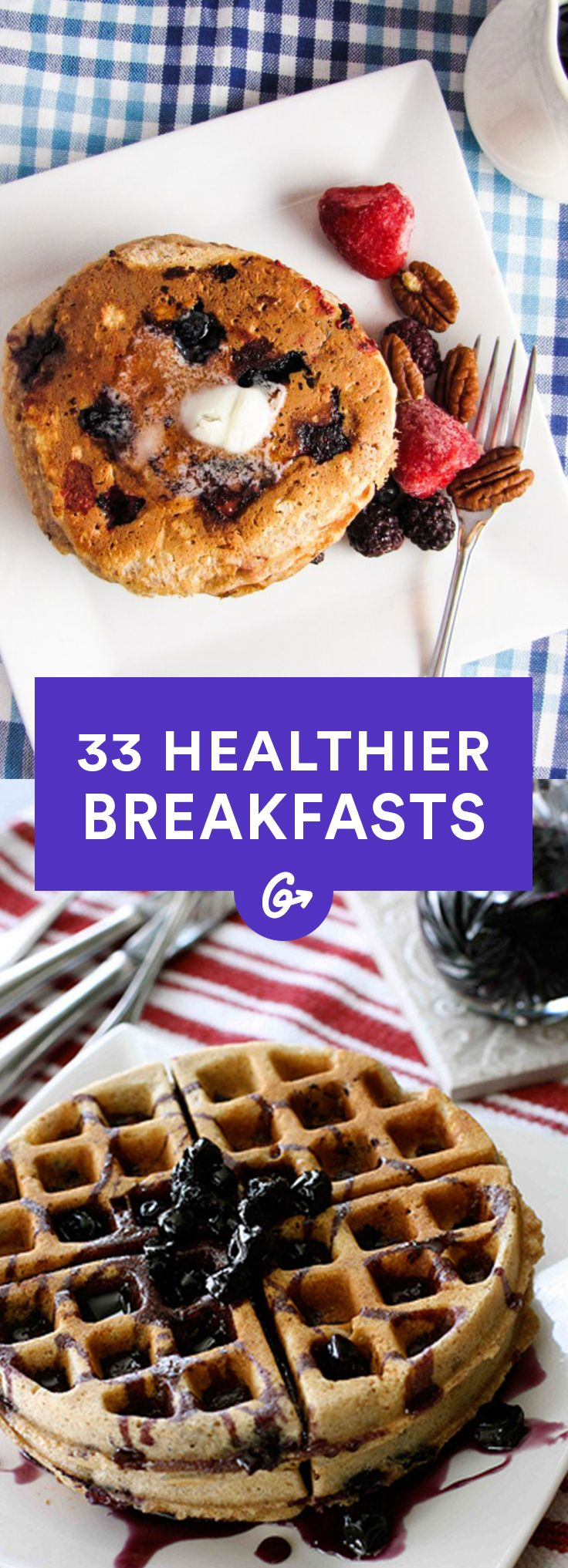 Breakfast is the most important meal of the day, so don't waste it on sugary junk!  #healthy #breakfast #recipes http://greatist.com/health/33-healthier-breakfast-alternatives