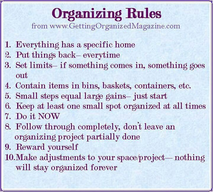 74 best organizational quotes images on pinterest for How to stay organized at home