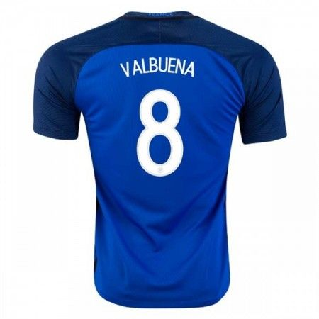 Frankrike 2016 Mathieu Valbuena 8 Hjemmedrakt Kortermet.  http://www.fotballteam.com/frankrike-2016-mathieu-valbuena-8-hjemmedrakt-kortermet.  #fotballdrakter