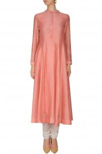 Peach Pleated Long Kurta shopnow #newcollection #contemporary #slohdesigns #happyshopping #kurta #clothing