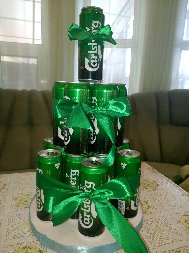Пивной торт#оформление подарков
