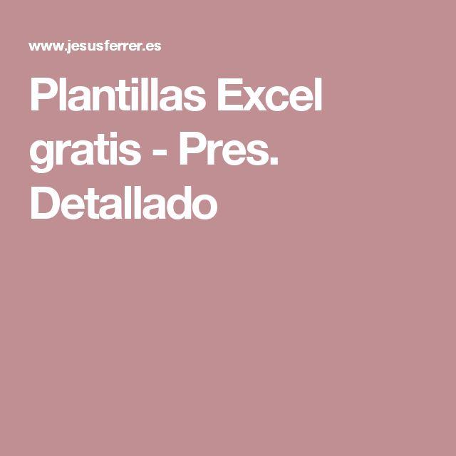Plantillas Excel gratis - Pres. Detallado