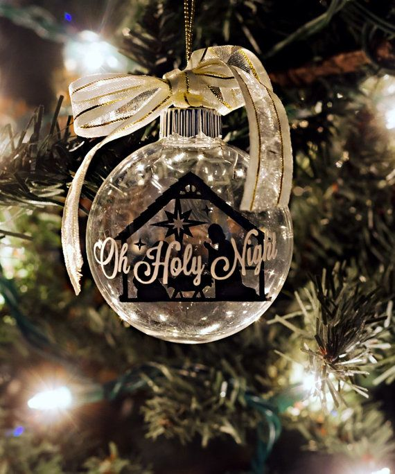 Oh Holy Night Floating Nativity Ornament by homemademountain