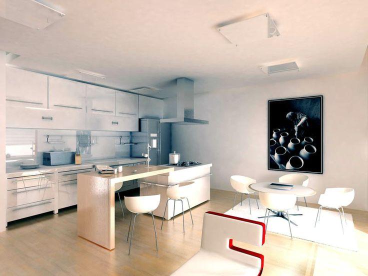 Modern Kitchen ideas 2014 wood white eclectic kitchen