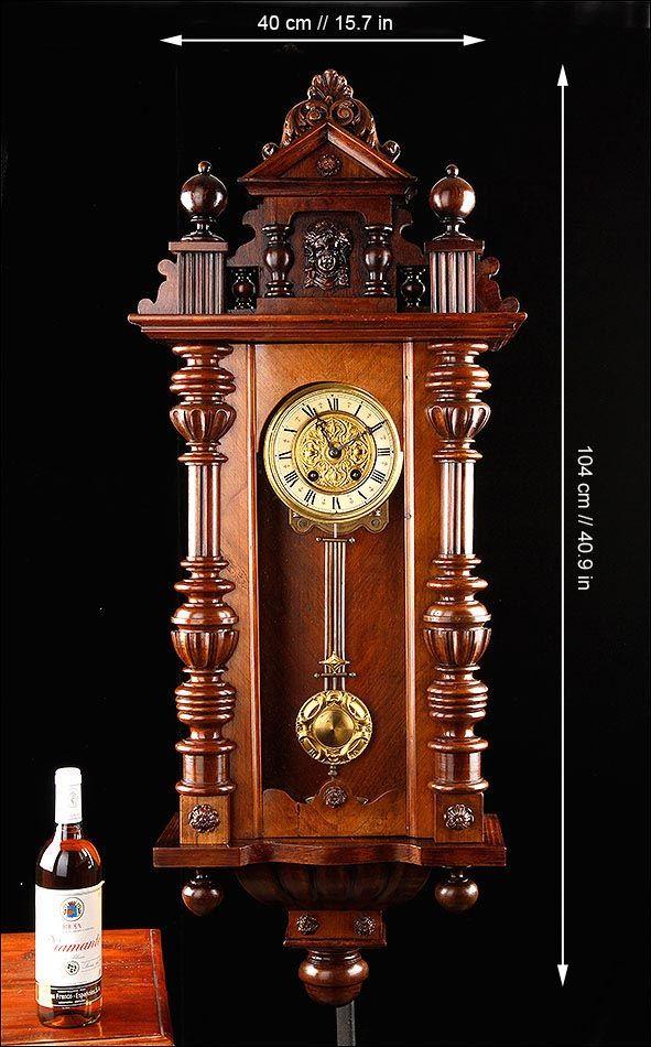 Fantástico Reloj De Pared Aiglon Funcionando Perfectamente Francia Circa 1890 Relojes De Pared Antiguos Reloj De Pared Relojes Antiguos