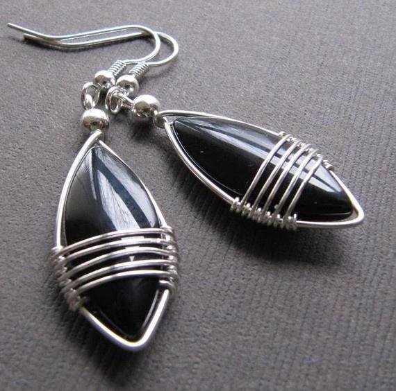 The little black earring by ildikova on Etsy, $15.00