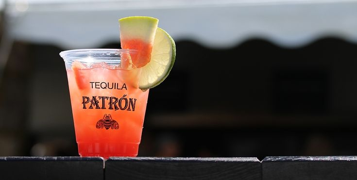 The Watermelon Agua Fresca made with Roca Patrón Silver is great for summer entertaining. #patron