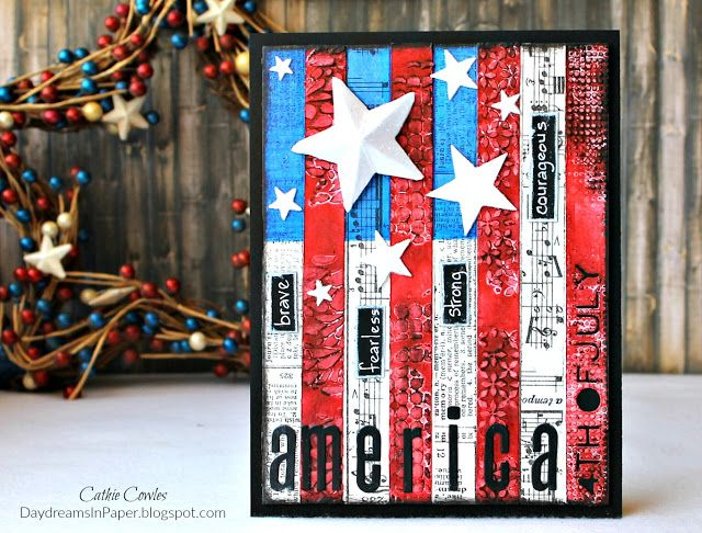 Daydreams In Paper: Simon Says Stamp Monday Challenge - Red, White and/or Blue Featuring Sizzix