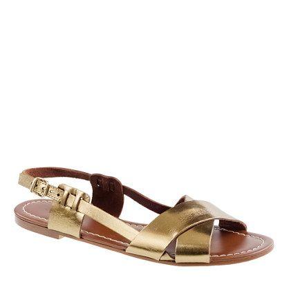 Tova Metallic Sandals / JCrew  #shoes #sandals #summer