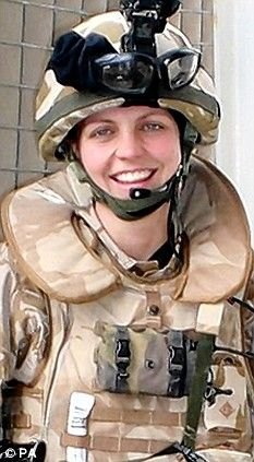 Killed in action: Joanna Dyer died in a roadside bomb attack in Iraq