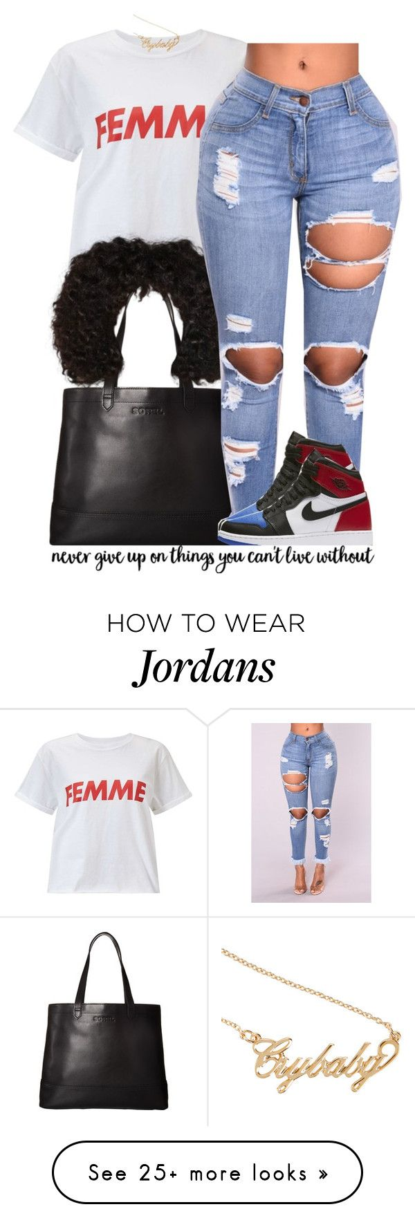 Femme Slogan. 7/01 by trinityannetrinity on Polyvore featuring Miss Selfridge, SOREL, NIKE and Hot Topic