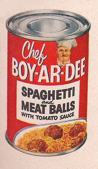 Chef Boyardee can 1953