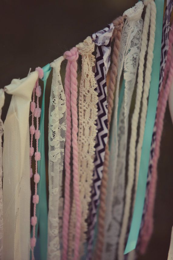 Vintage Chevron & Lace Garland by HeatherVintage88 on Etsy, $42.00