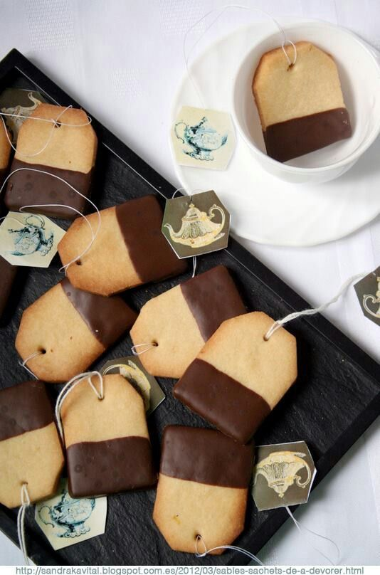 Tea Bag Shortbread Cookies-- so cute