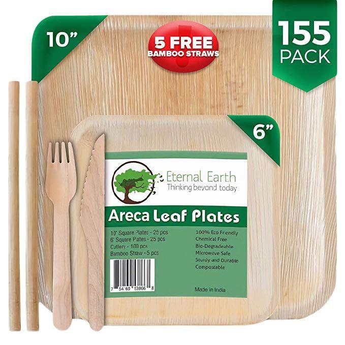 Dinner Parties /& all Event 10 pcs set Disposable Reusable Areca Palm Leaf Plate