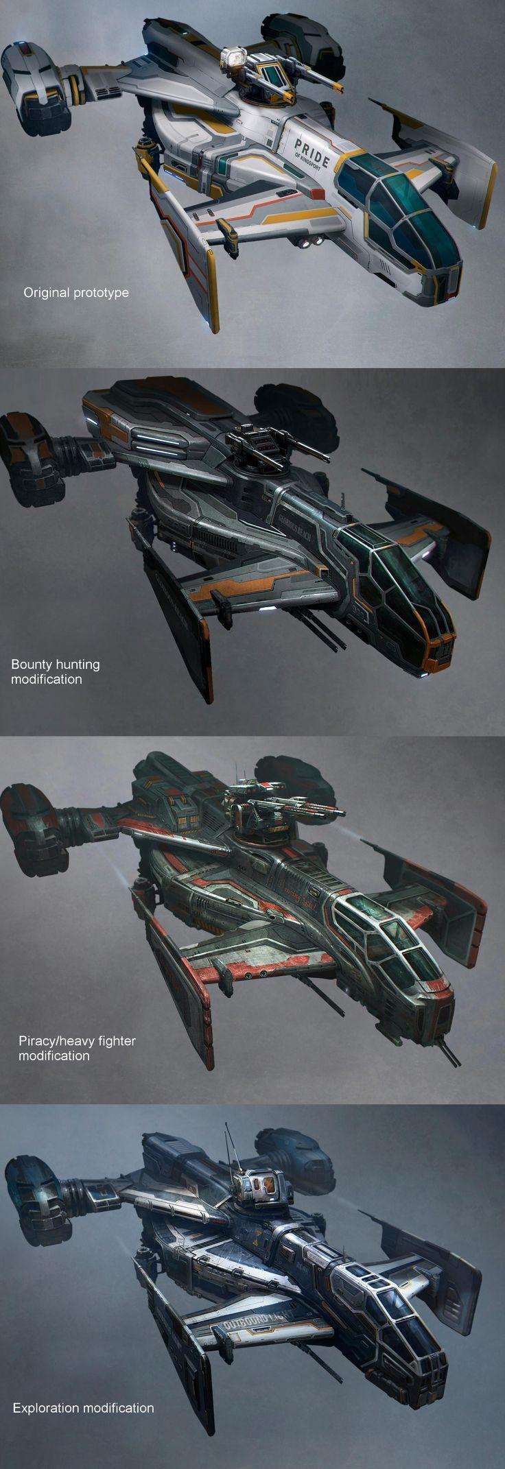 Star Citizen Cutlass Variants | Sci-Fi futuristic vehicles spaceship spacecraft: