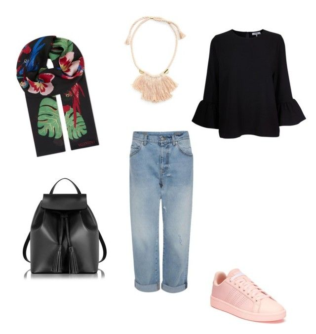 """""""Casual-outfit Hijab"""" on Polyvore featuring Valentino, Ganni, adidas, Le Parmentier, Madewell, hijab and outfitsideas"""