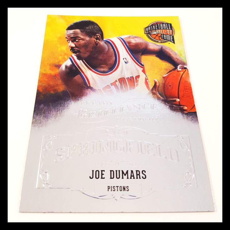 Joe Dumars Special Insert Basketball Card (2012-13 Panini Brilliance)