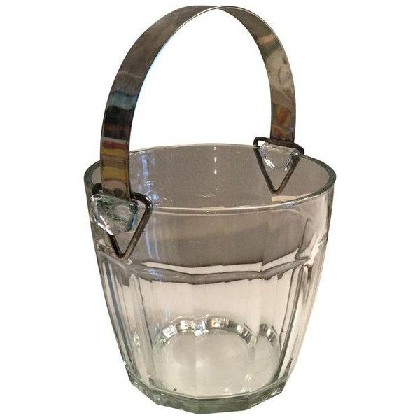 Glass & Silverplate Ice Bucket (€46) ❤ liked on Polyvore featuring home, kitchen & dining, bar tools, ice buckets, vintage ice bucket, vintage glass ice bucket, silver plate ice bucket, silver plated champagne bucket and glass champagne bucket