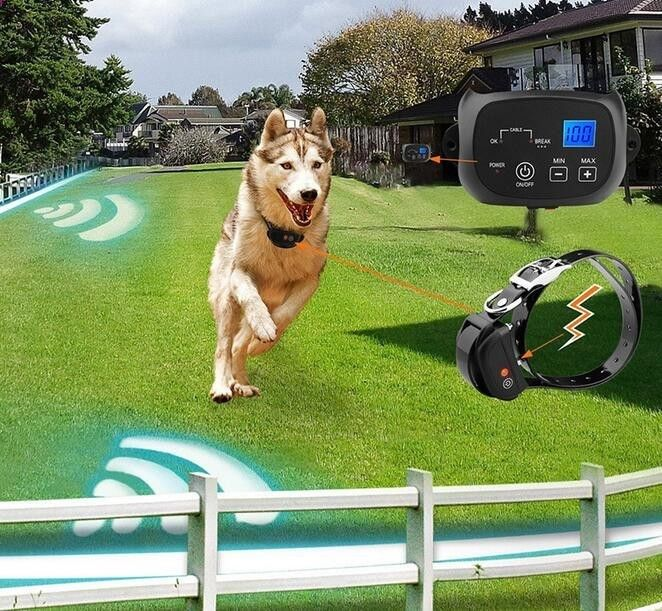 Electric Dog Fence Wireless Trainer Collar Waterproof