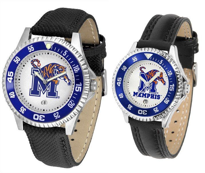 The Competitor Sport Leather Memphis Tigers Watch is available in your choice of Mens or Ladies styles. Showcases the Tigers logo. Free Shipping. Visit SportsFansPlus.com for Details.