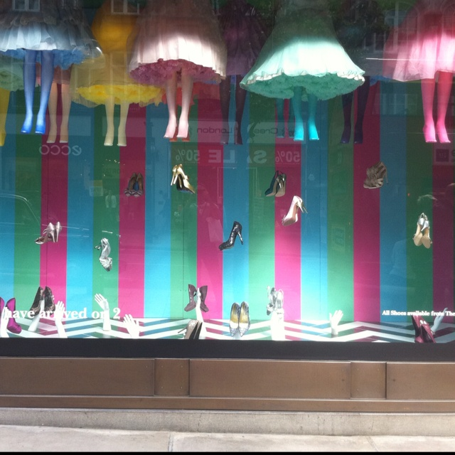 Selfridges London window 2011 shoes