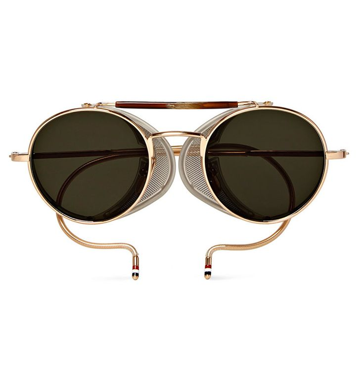 THOM-BROWNE.-Round-frame-Gold-tone-Sunglasses_fy1