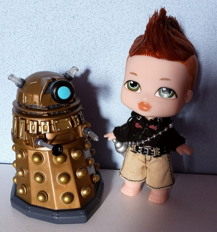 Baby doctor and baby dalek. The doctor was a ginger once but he can't remember