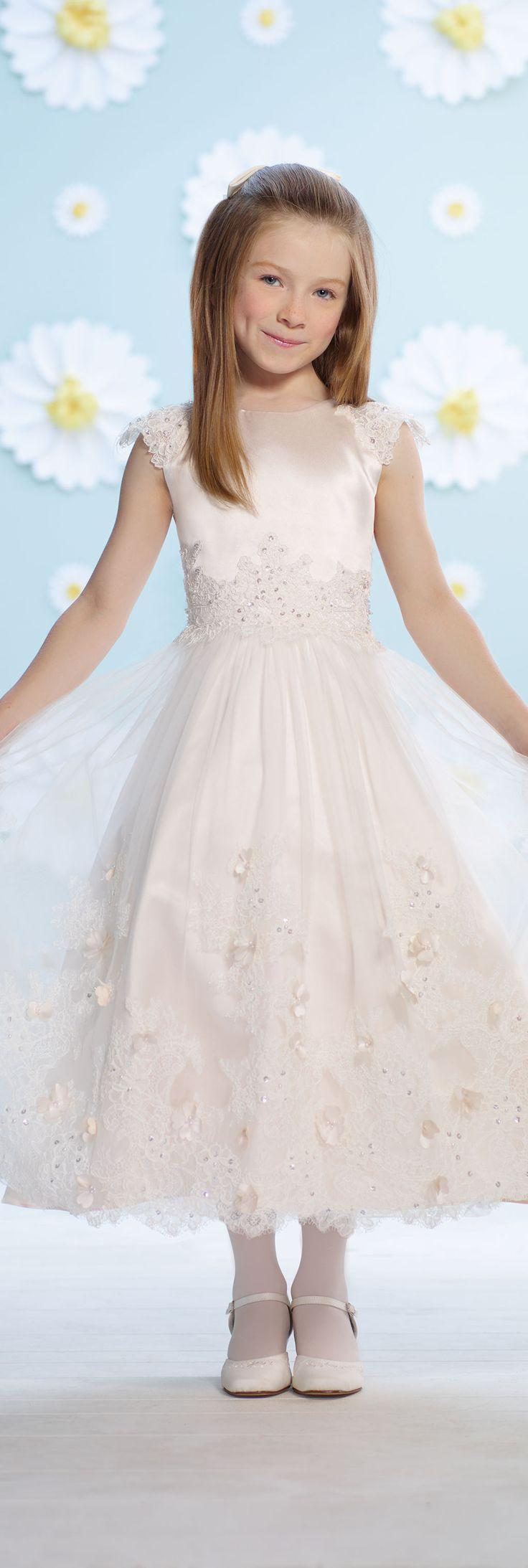 Joan Calabrese flower girl dress for Mon Cheri - Style No. 116375 #flowergirldresses