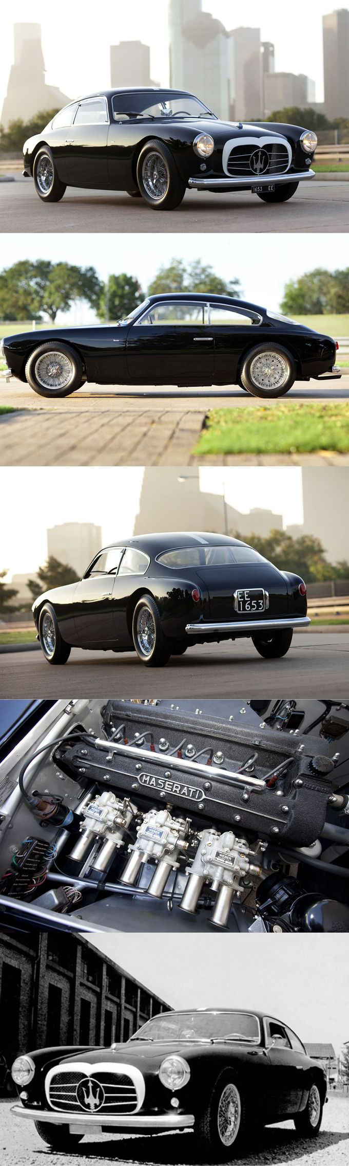 1955 Maserati A6G/54 / s/n 2105 1 of 21 produced / 150hp 2.0l L6 / black white / Italy / 17-293 http://amzn.to/2sAXIva