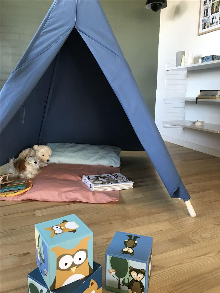 Littleroom Tipi Telt i bøgetræ Natur KØB ONLINE