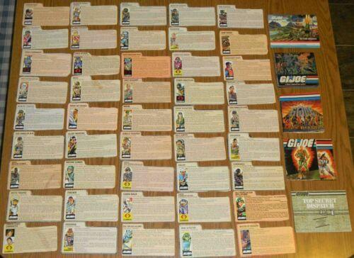 Lot A Pick /& Choose 1982-1985 GI Joe Cobra Peach File Card Series v 1 1.5 2 3 4