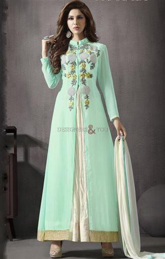 Beautiful pakistani dresses design gown style party wear salwar kameez…