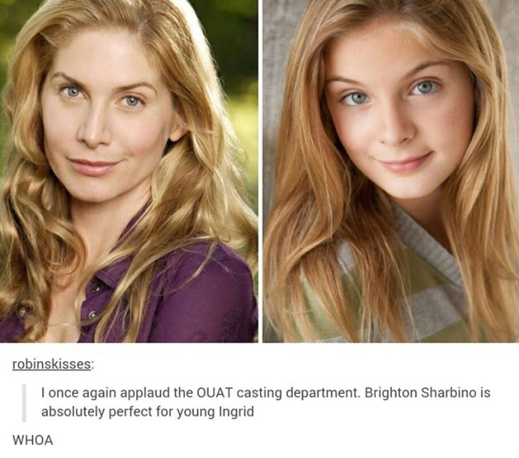 I'm hearing that Brighton Sharbino is playing young Ingrid on Once Upon A Time. When do we tell The Snow Queen to look at the flowers?