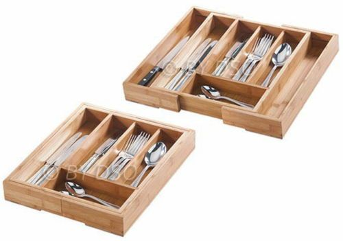Wooden cutlery box