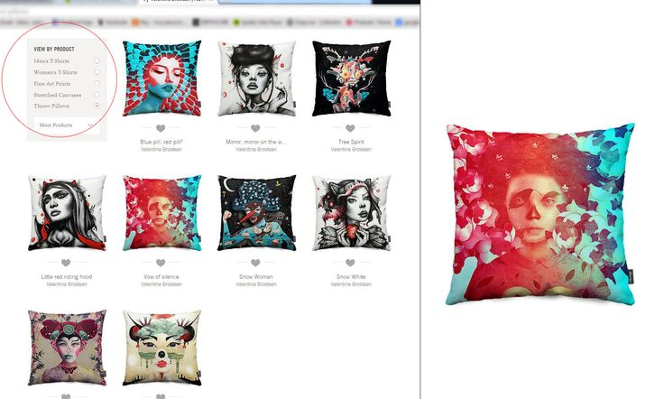 ot because they're mine but i think these artworks look pretty damn good on this cushions!:D..These beauties are available/ ready to purchase thorough Nuvango portal (http://nuvango.com/valentinabrostean) and that's not all! You might also be amazed how great those illustrations fit on t-shirts, phone cases, laptop cases and much more..Pretty cool stuff right?:)