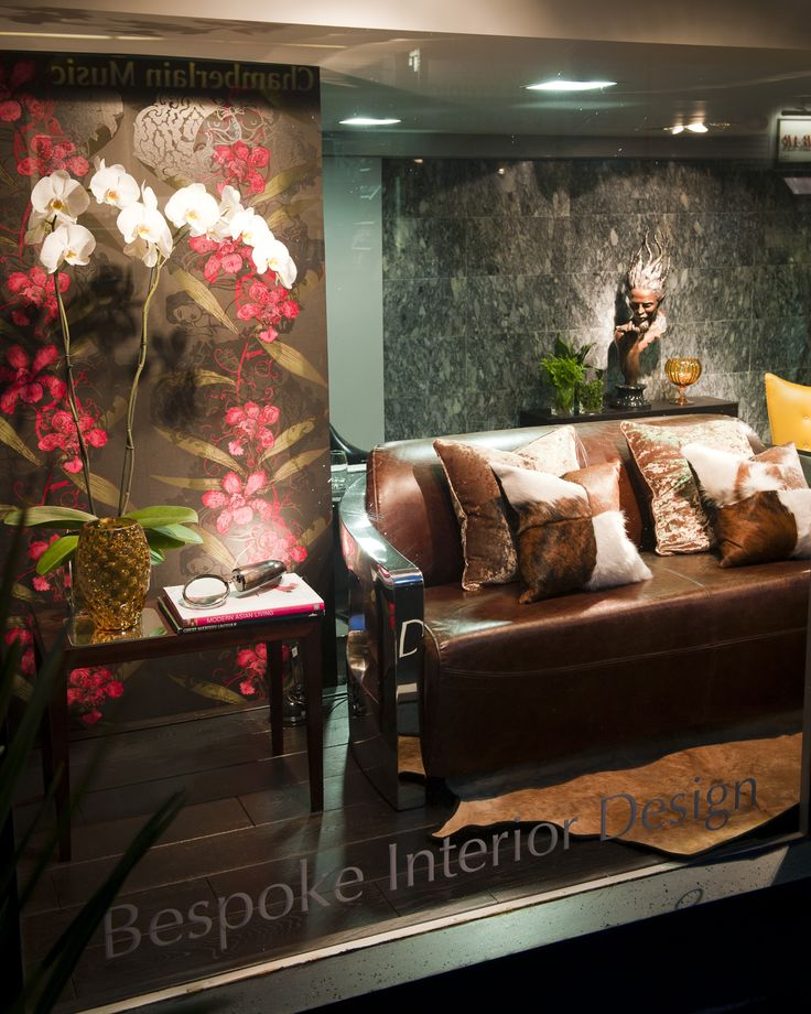 Timorous Beasties wallpaper makes a large impact on our window designs.