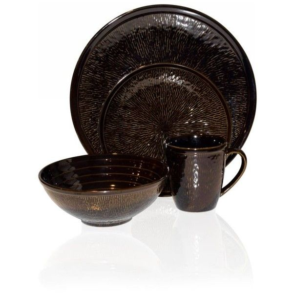 Sango Brown Centrics Sienna 16-Pc. Dinnerware Set (10.200 RUB) ❤ liked on Polyvore featuring home kitchen \u0026 dining dinnerware brown sango sang\u2026  sc 1 st  Pinterest & Sango Brown Centrics Sienna 16-Pc. Dinnerware Set (10.200 RUB ...