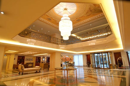 The Elegant Lobby of the Electra Palace Plaka in Greece