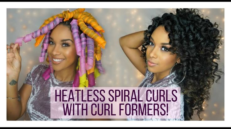 How To: Heatless Curls w/ Curl Formers on Natural Hair