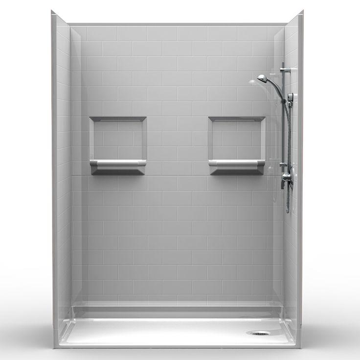 """MultiPiece Barrier Free 60"""" x 36"""" x 80 1/2"""" Shower"""