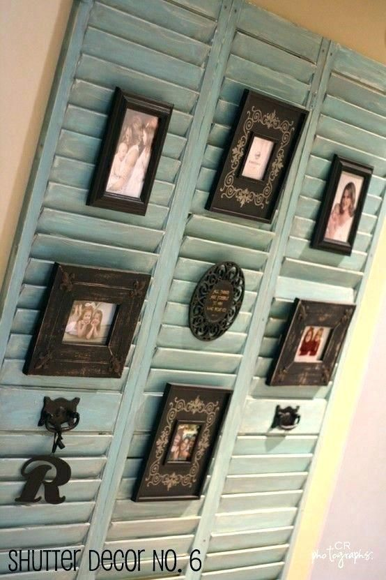 Distressed Shutter Wall Art Rustic Decor Decorating With Shutters Ideas Wind On