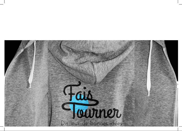 Maquette plaquette pour Fais Tourner (micro agence)