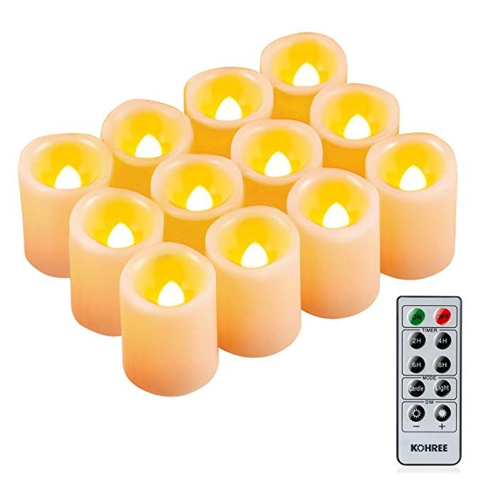 Amazon Com Kohree Flameless Candles Led Battery Candles With Timer Remote Control Led Pillar Votive Uns Flameless Candles Led Tea Light Candles Remote Candles