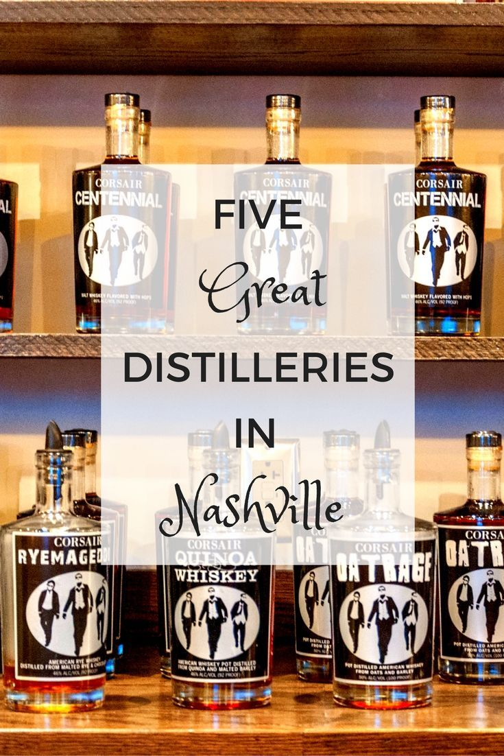 Building on a long heritage of distilling (both legal and illegal), today's Nashville distilleries come in all shapes and sizes. Here's a look at five great ones.